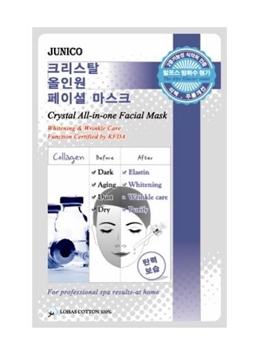 Junico Crystal Anti-Aging - Kolajenli Kırışıklık Karşıtı Yüz Maskesi Renksiz